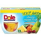 Dole Fruit Bowls Cherry & Mixed Fruit In 100% Fruit Juice 4 oz 4 cups