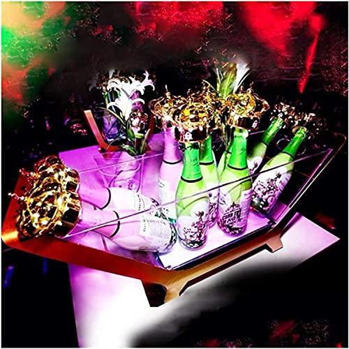 Cubiteras Para Hielo Cubo de hielo grande Gigante Cubo de hielo LED 6-12 Botella embotellada Champagne grande Cubo de hielo Barco de carga Color Cambio de Cambio Vino Boda Partido Cerveza Titular para