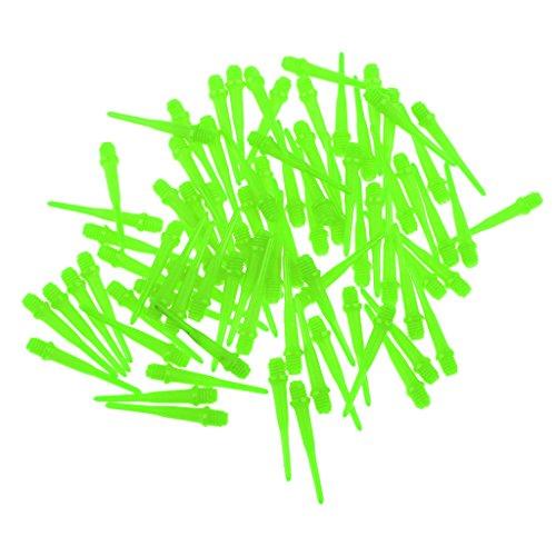 perfeclan 80x Professional 2BA Soft Tip Punkte Für Soft Tip Darts Elektronisches Dartwerkzeug - Grün