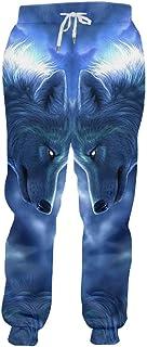 bebde0963d5 Homme Mélancolique Animal Motif Pantalon Imprimé 3D Yeux Rougeoyants Et  Pantalon De Jogging Loup