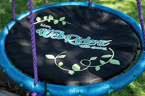 M & M Sales Enterprises Web Riderz Web Swing Cushion, Black, One Size