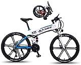 Bicicletta Elettrica, Pieghevole bicicletta elettrica per adulti Donne da uomo con pneumatici da 26 pollici 27 velocità Schermo LCD Mountain bike per la commutazione della città 350W Alluminio Mountai