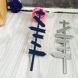 FNKDOR Scrapbooking Stanzschablone Prägeschablonen Stanzmaschine Stanzformen Schablonen, für Sizzix big shot / Cuttlebug / und andere Prägemaschine (B)