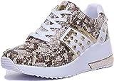 GUESS Zapatos de Mujer Zapatillas de cuña FL7JODPEL12 White-Python Talla 35 Bianco/Pitone