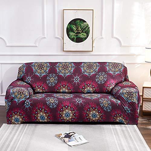 Fundas elásticas de Bohemia para sofá, Funda Universal para sofá, Funda de Esquina para sofá seccional elástica de algodón, para Sala de Estar, Mascotas A11, 1 Plaza