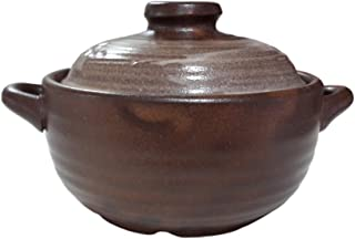 16.9ounce Korean Traditional Ceramic Pot Bowl with Lid for Dolsot Bibimbap Stew Soup Boiled Dishes