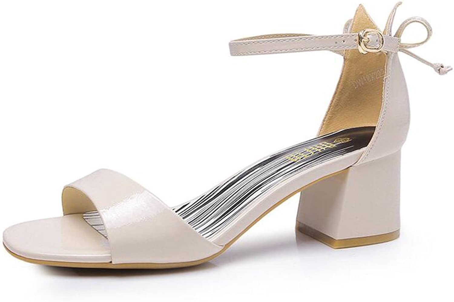 Jinsen Summer Sweet with Thick Bow Fashion Sandals