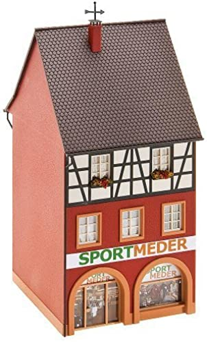 mejor moda HO Scale City House w Sporting Goods Store Store Store - Kit -- 3 x 3-1 8 x 6-7 8 7.5 x 8 x 17.5cm by Faller  apresurado a ver