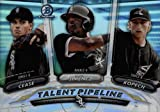 2018 Bowman Chrome Talent Pipeline - Michael Kopech - Eloy Jimenez - Dylan Cease - REFRACTOR - Chicago White Sox Prospects Baseball Rookie Card - RC #TP-CHW. rookie card picture