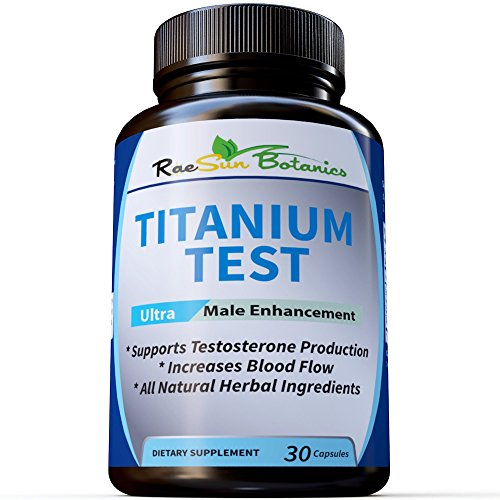 RaeSun Botanics Titanium Test All Natural Testosterone Booster for Men- Natural Stamina,Energy, Strength Booster with Clinically Proven Byronia Seed Extract!
