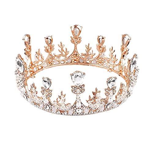 Tiaras Shelly Hecho a mano Rhinestones Cristales de la corona de la corona Novia Cabeza de boda Accesorios for el cabello velo de novia TSYGHP