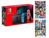 Nintendo Switch Rouge/Bleu Néon 32Go [Nouveau modèle]+ Super Smash Bros: Ultimate +...