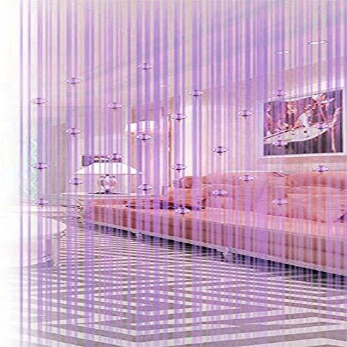 100x 200cm String Vorhang Perlen Wand Fransen Fenster Raumteiler Rollo für Hochzeit Kaffee Haus Restaurant Teile Kristall Quaste Bildschirm Home Dekoration 2m x 1m(78