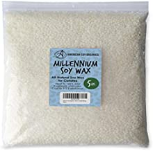 American Soy Organics Millennium Wax - 5 lb Bag of Natural Soy Wax for Candle Making