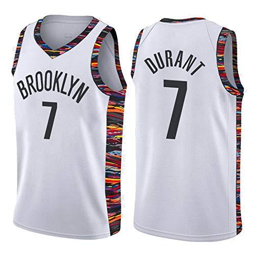 Brooklyn Nets #7 Swingman Ricamata Abbigliamento Sportivo canottejerseyNBA Kevin Durant Basket Jersey Maglia Canotta