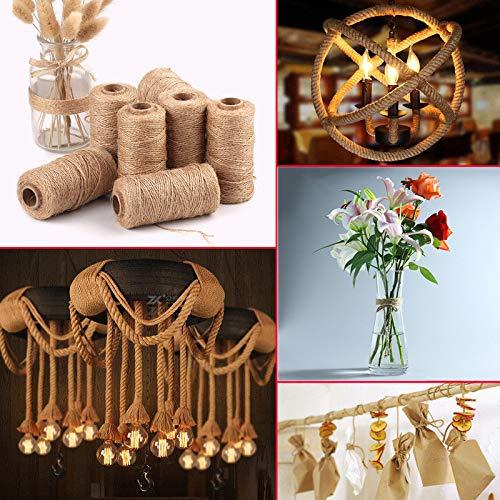 Artículos de decoración para el hogar, 100 m, Hechos a Mano, Cuerda de arpillera, Cuerda de arpillera, Manualidades, decoración de Lino para Pascua, Multicolor