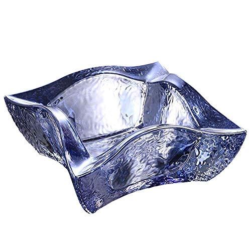LILICEN Cenicero, Oficina Creativo Cenicero Manera Transparente de Cristal de Vidrio de la Sala Multifuncional Decoración Cenicero