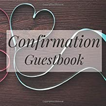 Confirmation Guestbook: Rustic Ribbon Cute Wood Wooden - Holy Christian Baptism Celebration Party Guest Signing Sign In Reception Visitor Book, Girl ... Wishes, Photo Milestones Keepsake Ceremony