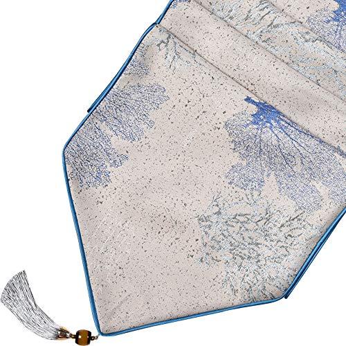 Xiao Jian – tafelloper – sjaal eenvoudig modern met tafelvlag en hoofddeksel, met bommel, fijne jacquard, Amerikaanse tafelvlag, pastorkleuren (3 kleuren, 3 maten)