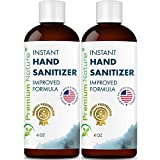 Instant Hand Sanitizer Gel - Value Size Advanced Natural Hand Sanitize Cleaner Portable Aloe Vera Moisturizer Packaging May Vary 4oz 2 Pack