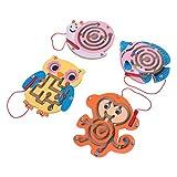 TOYANDONA - Puzzle in legno per bambini, con perle magnetiche, motivo: labirinto
