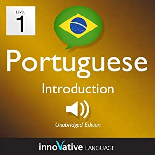 Learn Portuguese - Level 1: Introduction to Portuguese, Volume 1: Lessons 1-25 audiobook cover art