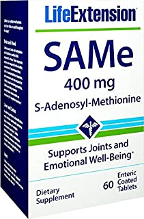Life Extension Same S-Adenosyl-Methionine 400 Mg, 60 Enteric Coated Tablets
