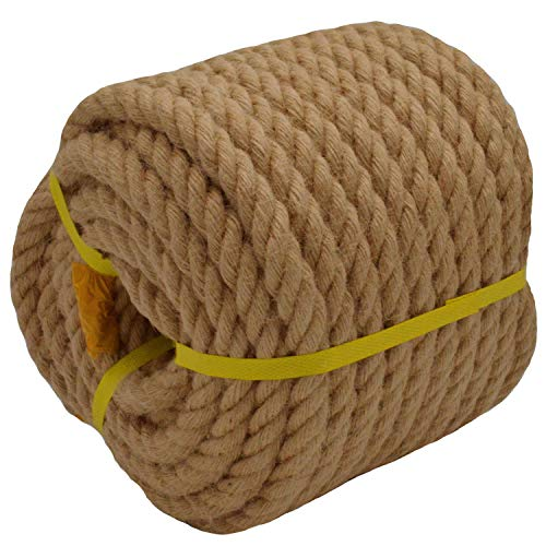 Twisted Manila Rope Jute Rope (3/4 in x 100 ft)