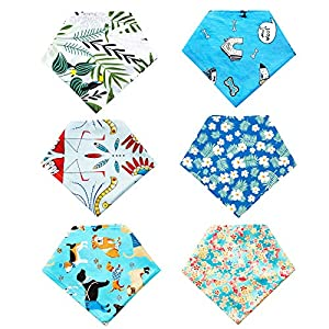 PET SHOW 6PCS Puppy Dog Bandana Bibs Cotton Triangle Head Scarfs Costumes Accessories Washable Bandanas Photo Props for Small Medium Cats 6 Colors for Boy and Girl
