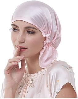 f6763dddf42 Briskreen 100 Mulberry Silk Night Sleep Cap Bonnet for Hair Loss Women Sleeping  Hat