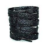 Glamlaces Flache Schnürsenkel für Sportschuhe und Sneaker | Glitzer Flachsenkel 120cm lang und 8mm breit | Extra Reißfest | Premium Qualität | Designed in Germany