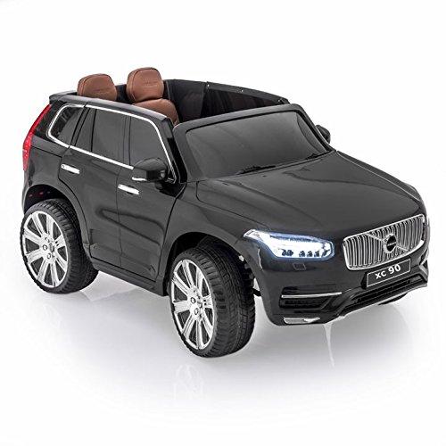 Lean Toys Elektroauto für Kinder Volvo XC90 Schwarz Lackiert Kinderfahrzeug Auto