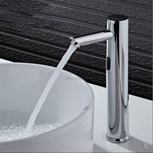 Baño Alto Grifos Automáticos Con Sensor Táctil Libre Ahorro De Agua Fría...