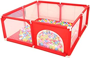 Children s play fence Activity Centres Indoor Boy Safety Fence Girl Toddler Fence Home Marine Ball Pool  Color Red  Size 120 120 62cm