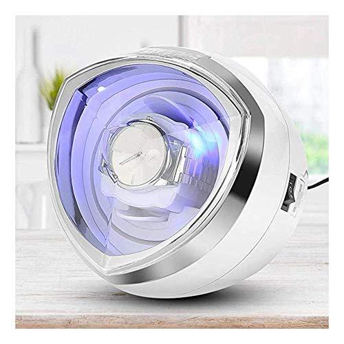 FGVDJ Enrollador de Reloj automático único con iluminación LED, Control de Temporizador Inteligente y Motor silencioso 4 Modos de rotación, Adaptador de CA de 100-240 v