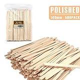 ANTETOK Disposable Birchwood Tea Wood Coffee Stir Sticks Wooden Stirrers 500 Pcs (5.5 Inch Premium Quality)