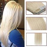 40 Pcs Extension Adhesive Naturel Cheveux Bande Adhésive Ruban Adhésif - Rajout...