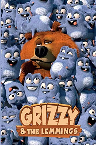 Grizzy & the Lemmings: School Composition Lined Journal, Unique For Teenage Girls Boys Adults, Perfect For Notes, Creative Ideas, Recipes, Diary, To ... Gift for kids All Ages (6x9 - 100 Pages)