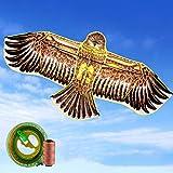ZCFXGHH Vuelo De La Cometa Juguete Adulto del Águila De Kite-Infantil, Juegos Al Aire Libre Beach Park, Regalo Hermoso para Niños Y Niñas 180 * 80Cm (70.86 * 31.49In),Kite+260m Line