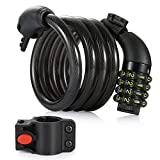 Bike Cable Lock, Amazer 4-Feet Bike Lock Basic Self Coiling...