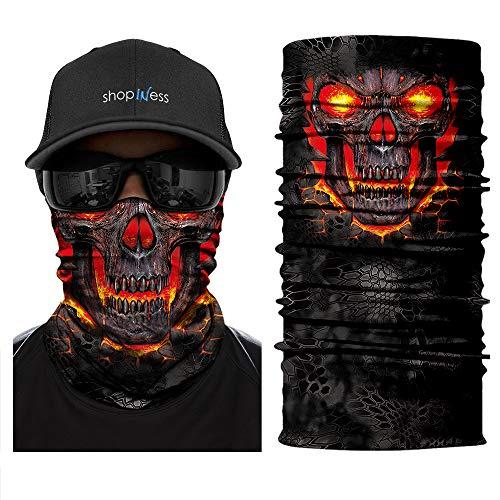 ShopINess Scaldacollo Multifunzione - Burning Skull