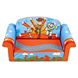 Comfy Foam Toddler 2-in-1 Flip-Open Couch and Chair Kids Furniture Package for Ages 2 Years Old and Up