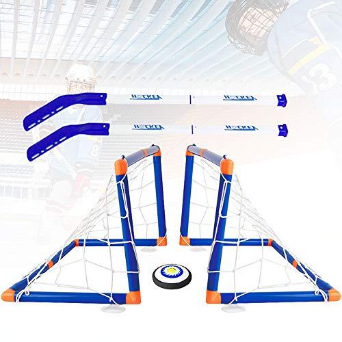 Outinhao, Air Power Hover Hockey Set mit 2 Toren, Super Spaß beim Hockey in Innenräumen, Hockeyspiel Indoor Outdoor Hockeyspielzeug Sport für Jungen Mädchen (1 Set)