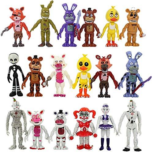 Estilos de venta caliente FNAF Five Nights At Freddy's Sister Location Funtime Foxy Ballora Puppet Nightmare Freddy Figuras de acción Juguetes