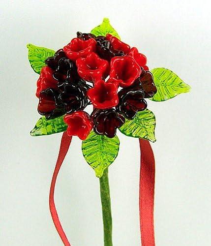 Murano Glass Bright Red and Some reservation Oklahoma City Mall Dark Garnet Viburnum Flower