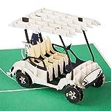 PaperCrush® Pop-Up Karte Golf - 3D Geburtstagskarte mit Golfcart als besondere Geschenkidee für...