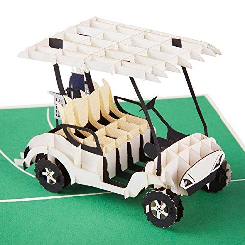 PaperCrush® Pop-Up Karte Golf - 3D Geburtstagskarte mit Golfcart als besondere Geschenkidee für Golfer, Golfen - Handgemachte Grußkarte für Golfspieler, Golfkarte, Golfgeschenk