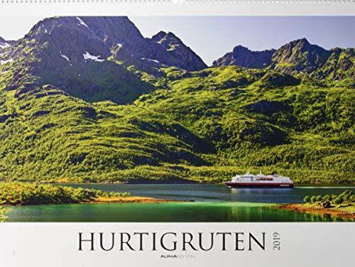 Hurtigruten 2019 - Norwegen - Bildkalender XXL (64 x 48) - Landschaftskalender - Postschiffe - Naturkalender