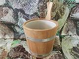 Achleitner Sauna - Cubo para sauna (madera de espento, 5 L, con inserto de plástico)