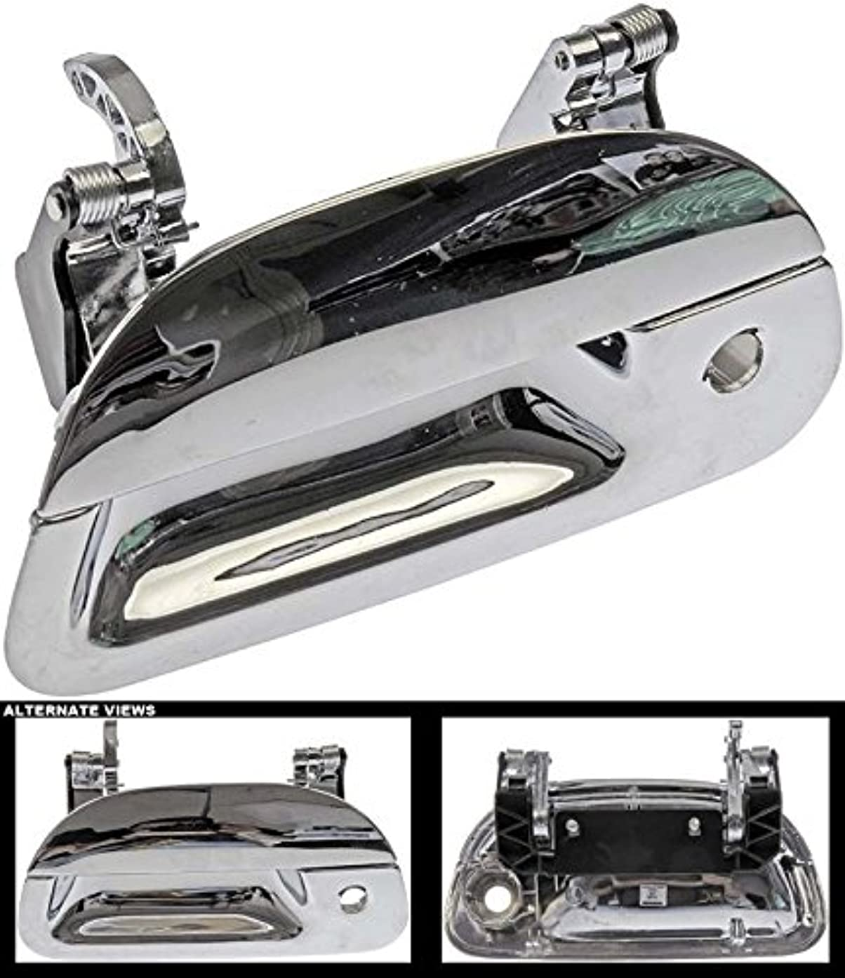 APDTY 02196 Chrome Rear Tailgate Handle With Keyhole Fits Select 1997-2007 Ford F150, F250, F350, F450, & F550 Trucks; See Description For Details (Replaces XL3Z9943400AAACH)